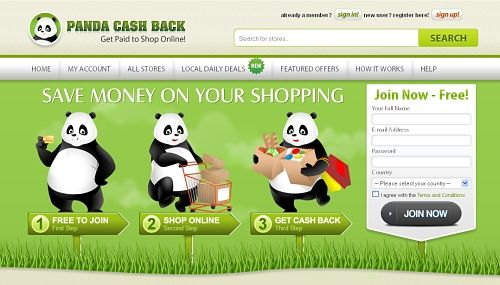 Cashback Shopping with Panda CashBack