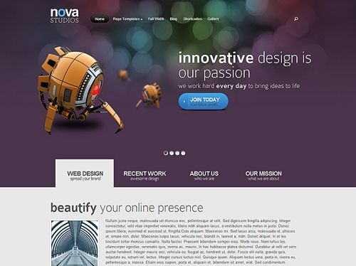 Nova wordpress theme 6 unique colors