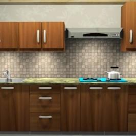 Rustic Teak Kitchen